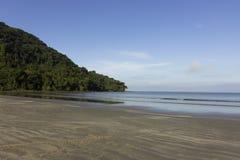 在海滩的平安的片刻 库存照片