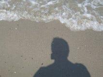 在海滩的影子 库存照片