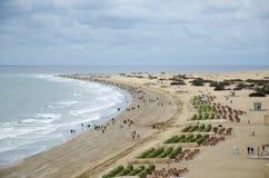 在海滩的恶劣天气 库存照片
