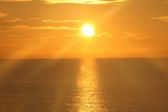 在海洋15的日出 免版税库存照片