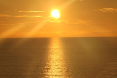 在海洋10的日出 免版税图库摄影