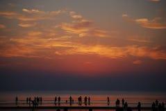 在海滩2的日出 免版税图库摄影