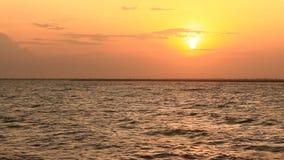 在海滩的日落 影视素材