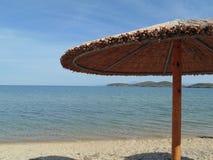 在海滩的日 库存照片