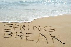在海滩的春假 免版税图库摄影