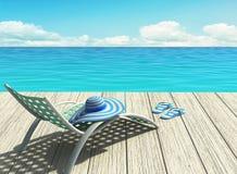 在海滩的暑假 免版税图库摄影