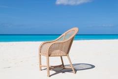 在海滩的椅子 图库摄影