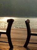 在海滩的椅子 库存照片