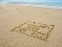 在海滩的比赛 免版税图库摄影