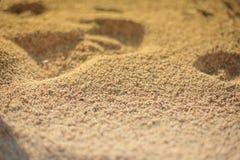 在海滩的沙子 免版税图库摄影