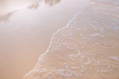 在海滩的沙子 库存照片