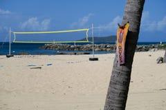 在海滩的没有狗 免版税库存图片