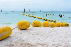 在海滩的浮力 库存图片