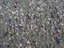 在海滩的海沙纹理 免版税库存图片