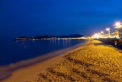 在海滩的海浪 库存图片
