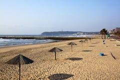 在海滩的清早在德班南非 库存图片