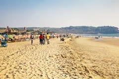 在海滩的漫步 库存图片
