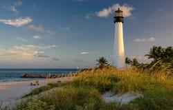 在海滩的灯塔,海角佛罗里达灯塔 库存照片