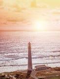 在海滨的灯塔 免版税图库摄影