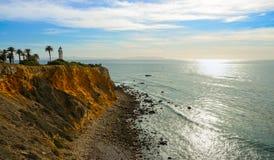 在海洋的灯塔 库存照片