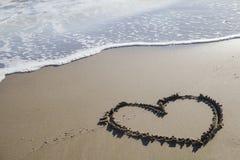 在海滩的爱 图库摄影