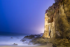 在海滩的监视塔 免版税库存照片