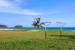 在海滩的目标 免版税库存照片