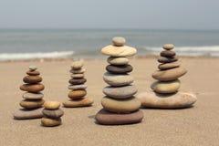 在海滩的石头 图库摄影