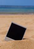在海滩的立即照片 免版税库存照片