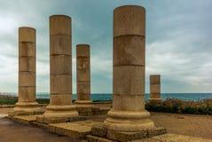 在海滨的罗马别墅在凯瑟里雅- 4 库存图片