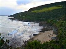 在海洋的蜒蜒路。 图库摄影