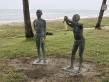 在海滩的街道艺术在宋卡泰国 免版税库存照片