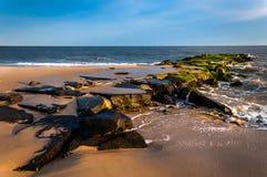 在海滩的跳船在开普梅,新泽西 免版税库存图片