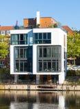 在海滨的连栋房屋,汉堡 免版税库存照片