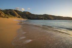在海滩的通知 免版税库存照片