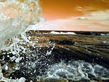 在海滩的通知 库存照片