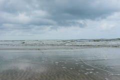 在海滩的通知 图库摄影