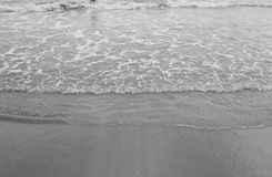 在海滩的通知 库存图片