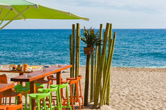 在海滩的酒吧 库存图片