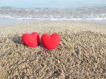 在海滩的重点 免版税库存图片