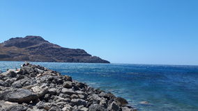 在海洋的风景 免版税库存图片