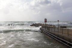 在海滩的风暴 库存照片