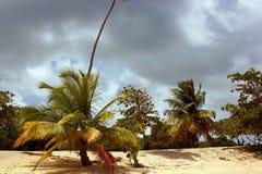 在海滩的风暴 免版税库存照片