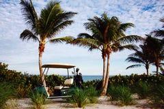 在海洋的高尔夫球在佛罗里达 图库摄影