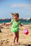 在海滩的水乐趣 图库摄影