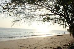 在海滩的晴天 免版税库存图片
