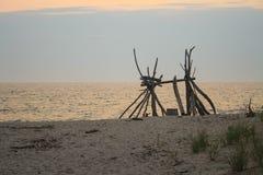 在海滩的结构 免版税库存图片
