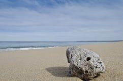 在海滩的轻石 免版税库存照片