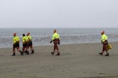 在海滩的Lifequard 免版税库存照片