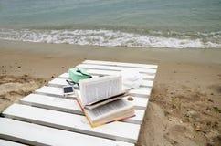 在海滩的Otdy 库存照片